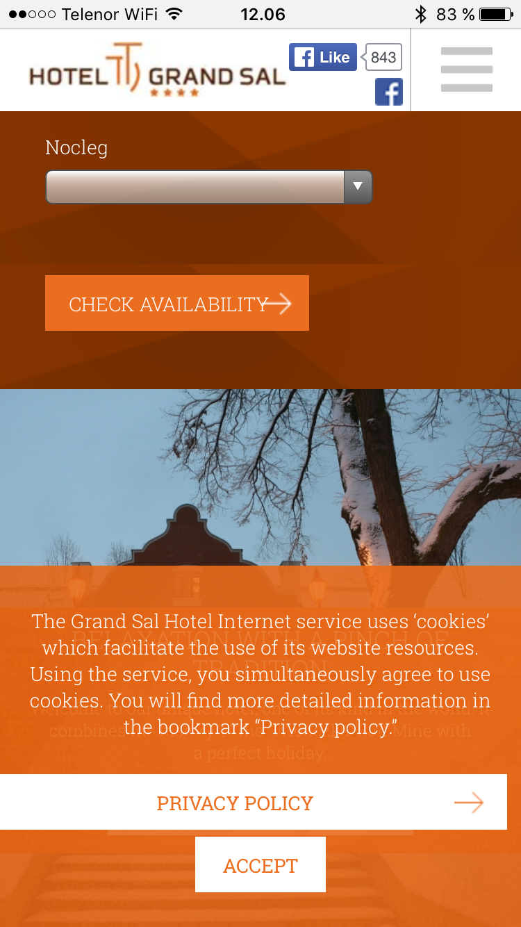 A example of bad UX with cookie warning covering half the page